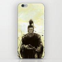 samurai iPhone & iPod Skins featuring Samurai by Tony Vazquez