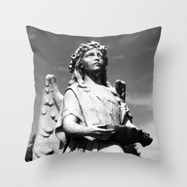 Angel with Offerings Throw Pillow