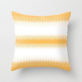 orange ikat  Throw Pillow