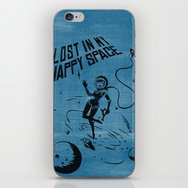 Lost In My Happy Space, blue iPhone Skin