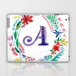 Letter A Colorful Monogram Laptop & iPad Skin