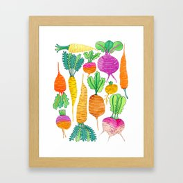 Root Veggies Framed Art Print