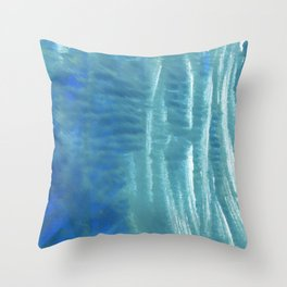 Steel blue abstract Throw Pillow
