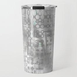 Weird shaky and foggy white and light grey texture on strange innocent wall Travel Mug