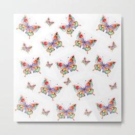Butterflies abstract print Metal Print
