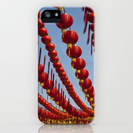 Red Chinese Lanterns at Thean Hou Temple, KL iPhone Case