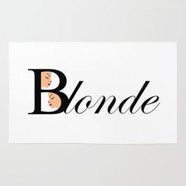 Beautiful blonde women Rug