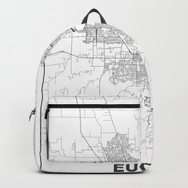 Minimal City Maps - Map Of Eugene, Oregon, United States Backpack