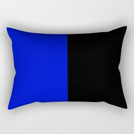 Psychedelic black and blue stripes V. Rectangular Pillow