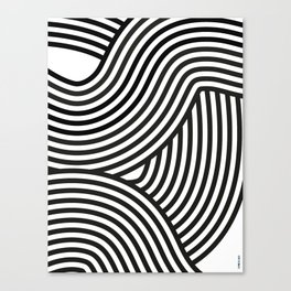 Moving lines Canvas Print