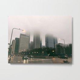Chicago foggy 2 Metal Print