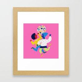 Neon Disco Framed Art Print