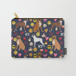boxer emoji funny dog gifts emojis Carry-All Pouch