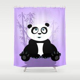 Panda Girl - Purple Shower Curtain