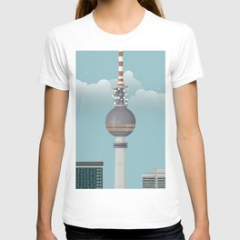 Berlin   Retro Travel Poster T-shirt