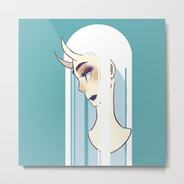 White vector Metal Print