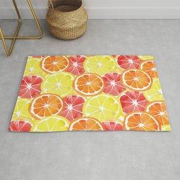Grapefruit Lemon Orange Pattern Rug