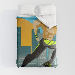 fitness runner training in the city Comforters
