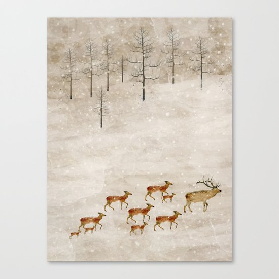 a new home for winter Canvas Print