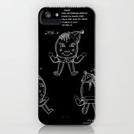 Humpty Dumpty Patent - Black iPhone Case