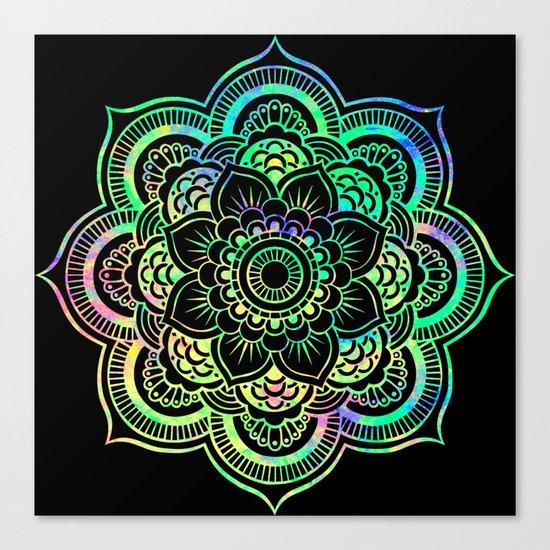 Black Light Mandala Canvas Print