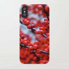 Festive Berries 2 iPhone X Slim Case