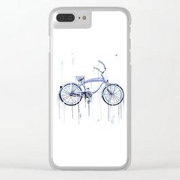Blue Bike Clear iPhone Case