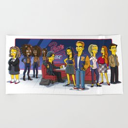 Friends from Riverdale Beach Towel