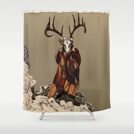 Shaman color Shower Curtain