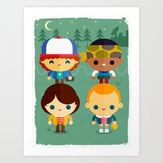 Stranger and things Art Print