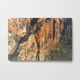 Route to Angel's Landing Metal Print