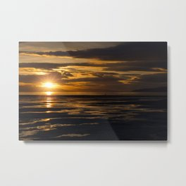 Great Salt Lake Sunset at the Salt Air Metal Print