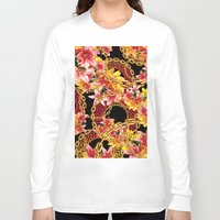 versace Long Sleeve T-shirts featuring Chained in Gold  Flowers by Dave Higs