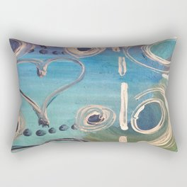 Purple Hearts Rectangular Pillow