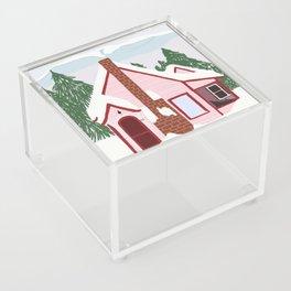 Winter House Acrylic Box