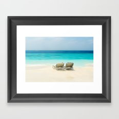 enjoy the day at the sea Framed Art Print