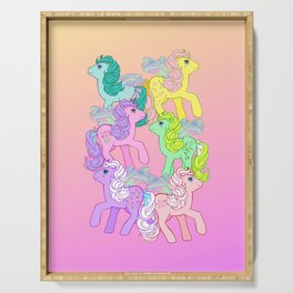 g1 my little pony year 4 Flutter Ponies Serving Tray