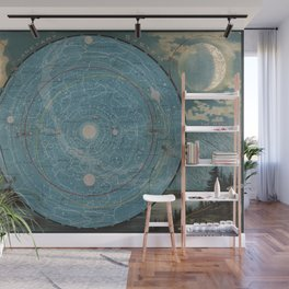 Planetary System. Eclipse of the Sun. The Moon. The Zodiacal Light. Meteoric Shower. Wall Mural