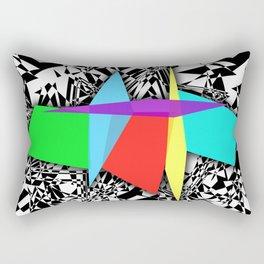 Color Sculpture Rectangular Pillow