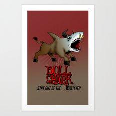 Bull Shark Version 2 Animal Series by RonkyTonk Art Print