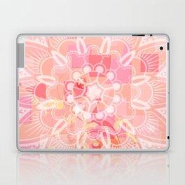 Abstract Peach Flower Laptop & iPad Skin