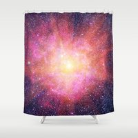 interstellar Shower Curtains featuring Interstellar Nebula by Space99