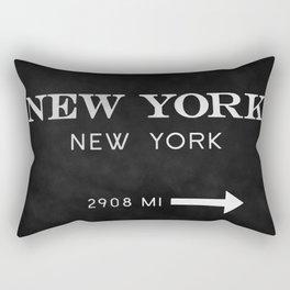 black watercolor new york new york Rectangular Pillow