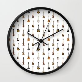 Guitar Pattern Wall Clock