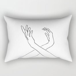 Dancing minimal line drawing Rectangular Pillow