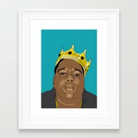biggie Framed Art Prints featuring BIGGIE by 6ense