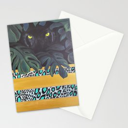 Jaguar Eyes Through the Jungle Stationery Cards