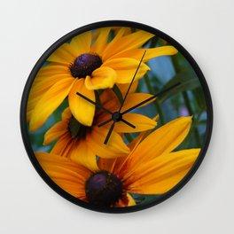 black-eyed susan Wall Clock
