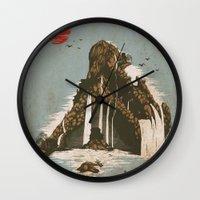castle Wall Clocks featuring hidden castle by Steven Toang