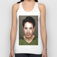 robert downey jr Tank Tops featuring Robert Downey Jr. Mugshot by Neon Monsters